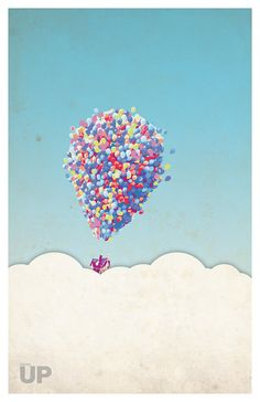 UP poster print A3 minimalistic 11x17 pixar by PosterForum