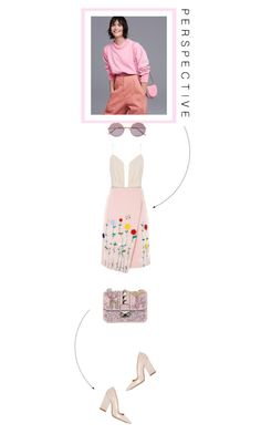 """""""It's a matter of perspective"""" by jpcarroll on Polyvore featuring moda, Valentino, Dee Keller, Sunday Somewhere y VIVETTA"""