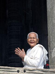 Monk (woman), #Cambodia ~ exploring #Asia http://mygo.la/OVQ435    by flydime, via Flickr