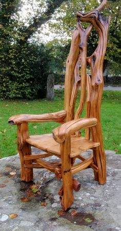 Welsh woodland storytelling chair