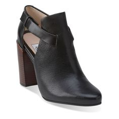 Crumble Sugar Black Leather - Clarks Womens Shoes - Womens Heels and Flats - Clarks - Clarks