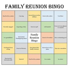 Family Party Games, Family Game Night, Group Games, Family Theme, Family Reunion Activities, Family Reunions, Group Activities, Family Vacations, Activity Games