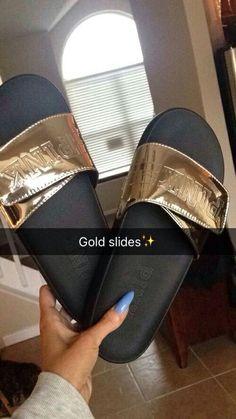 Gold Pink Slides @GottaLoveDesss