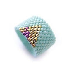 CLÉOPÂTRE Pruche Mint bague géométrique couleur par JeannieRichard
