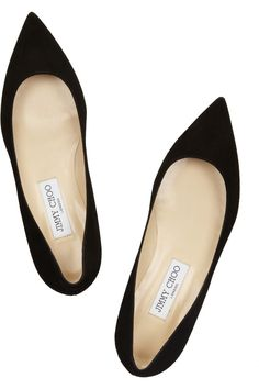 Alina suede point-toe flats by Jimmy Choo