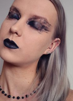 All black makeup look