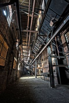 CORRIDOR OF DECAY by riverrat18, via Flickr Cctv Security Systems, Abandoned Factory, Industrial Machinery, Home Security Tips, Cctv Surveillance, Game Environment, Old Factory, Life Goes On, Abandoned Buildings