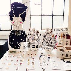 Instagram photo by @Viktorija Semjonova (Viktorija) | Iconosquare Craft Fairs, Illustration Art, Packaging, Studio, Diy, Crafts, Instagram, Manualidades, Bricolage