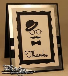 The Serendipitous Stamper: Impression Obsession Fall Designer Die Hop~Day 2 Men's Cards, Paper Cards, Paper Christmas Ornaments, Christmas Cards, Birthday Cards For Boys, Male Birthday, Mustache Cards, Impression Obsession Cards, Art Lessons Elementary