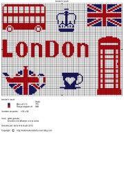 Pays - country - london - point de croix - cross stitch - Blog : http://broderiemimie44.canalblog.com/