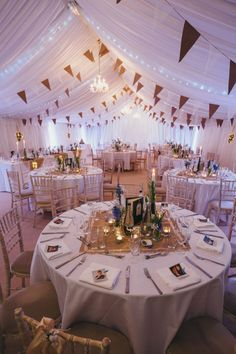 cool Relaxed Rustic Yorkshire Wedding MArquee Bunting Fairy Lights www.by duratan-wedding. Marquee Wedding, Tent Wedding, Our Wedding, Dream Wedding, Wedding Rustic, Gym Wedding Reception, Wedding Ceremony, Hessian Wedding, Fairy Lights Wedding