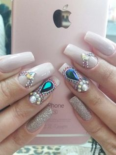 Milena, Nail Art, 3d, Nails, Beauty, Stiletto Nails, Nail Jewels, Nail Design, Nail Arts