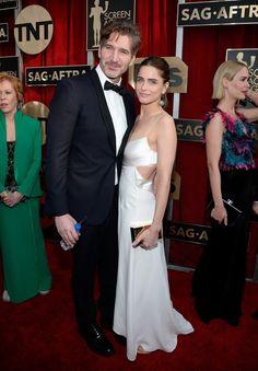 Pin for Later: Les Couples Ont Dominé le Tapis Rouge Lors des SAG Awards Amanda Peet et David Benioff
