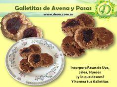Receta de Galletitas de Avena y Pasas. ¡Sanas, ricas y nutritivas!