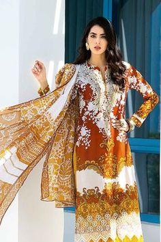 Pakistani Lawn Suits, Pakistani Designer Suits, Casual Dresses, Fashion Dresses, Couture Dresses, Clothes For Sale, Clothes For Women, Pakistan Fashion, Chiffon Material