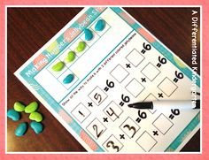 Painted Lima Beans for decomposing numbers  A differentiated kindergarten
