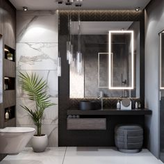 Master bathroom designs that feature creative bathroom layouts, modern bathroom furniture designs & beautiful bathroom accessories, plus bathroom decor tips. Modern Bathroom Design, Bathroom Interior Design, Bathroom Designs, Bathroom Ideas, Modern Bedroom, Modern Toilet Design, Shower Ideas, Modern Design, Modern Bathroom Accessories