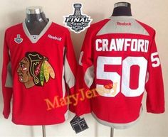 Only $34.88 please email me at maryjerseyelway@gmail.com for Blackhawks 50 Corey Crawford Red Practice 2015 Stanley Cup Stitched NHL Jersey