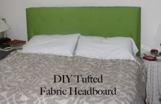 An upholstered headboard for about $100.