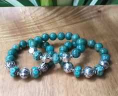 Ocean Green Amazonite Gemstone Triple by JewelrybyKellyWalker
