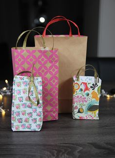 Cadeautasjes maken! Giftbags DIY