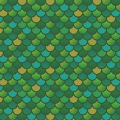 Mermaid Fish Scales in Green fabric  1 yard by littlefishcreations, $19.00