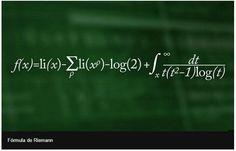 La fórmula de Riemann  Permite calcular los números primos por debajo de un número dado.