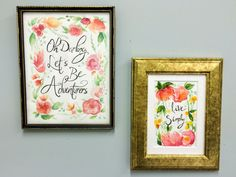 """Some absolutely gorgeous typography and wall art from a friend back in the states. Have a look at her blog- """"of the creative variety"""" x Would be stunning for wedding invites!"""