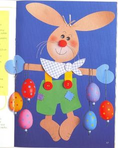 bunny - spring/Easter paper craft pattern