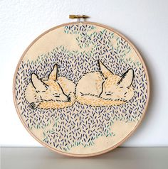How Foxes Dreamed the World into Being PDF Embroidery Pattern by Studio MME
