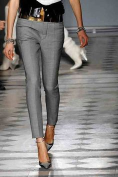 bcd5c573b98c33 The Chopped Cigarette Pants-I would do the black cigarette pants and the  grey sweater
