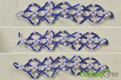 make the out part of the purple flower bracelet