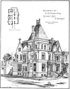 Design for the Yerks Residence on Michigan Avenue, Chicago
