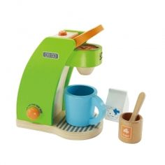 Our beautiful collection of unique wooden toys will inspire hours of open-ended play. Find wooden blocks, baby toys, play kitchens, train sets, and dollhouses. Wooden Play Kitchen, Play Kitchen Sets, Toy Kitchen, Kitchen Helper, Kitchen Things, Machine Expresso, Best Espresso Machine, Play Kitchens, Modern Coffee Makers
