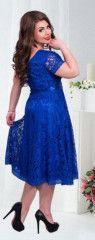 Společenské šaty Nicky (vel. L-6XXL) - modréPošta Zdarma