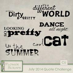 July 2014 Quote Challenge - $0.00 : Digital Scrapbooking Studio