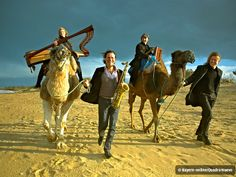 never thought I'd see a harp on a camel.