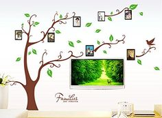 $8.99  - Pesp Wall Stickers Wall Decals Trees Photo Frame Birds Removable Wall Dcor Decorative Brown tree >>> Check this awesome product by going to the link at the image. (This is an affiliate link)