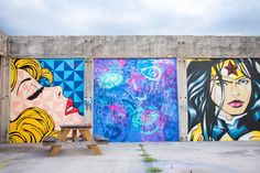San Antonio Wall Crawl: A Tour of Street Art and Murals Courage Tattoos, Murals Street Art, Gloomy Day, Instagram Worthy, Geometric Wall, Art Of Living, Local Artists, Installation Art, San Antonio