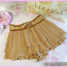 Liz lisa layered chiffon sukapan/skirt-shorts