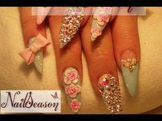 Diseño de uñas en COLORES pastel - YouTube