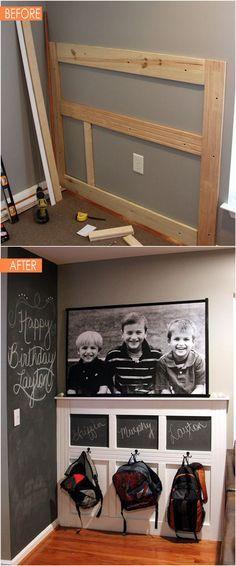 21 erstaunliche DIY vor dem nach dem Eingang Umarbeitungen!  Diese dramatischen Transformationen inspirieren Sie eine schöne, funktionale und einladende Eingangsbereich zu schaffen!  - Ein Stück Regenbogen