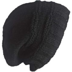Laundromat Women's Taylor Beanie ($37) ❤ liked on Polyvore featuring accessories, hats, beanies, hair, black, oversized beanie, wool beanie, beanie hats, wool hat and black wool hat