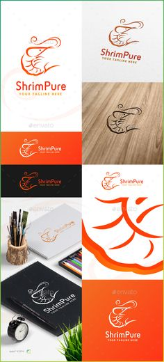 ShrimPure Logo Template — Vector EPS #creative #flow • Available here → https://graphicriver.net/item/shrimpure-logo-template/14729157?ref=pxcr