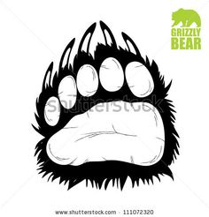 Bear paw - vector illustration by Petrovic Igor, via ShutterStock