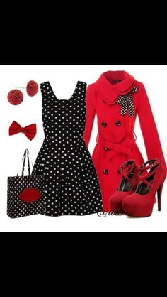 This would be a cute outfit for Christmas or even Valentines day.