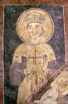 Екатерина Александрийская, вмц. Болгария. Бояны. Боянская церковь. XIII в.