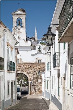 Feel the heat in the lovely Old Town in Algarve - Portugal.don't bypass this town when you go to the Algarve. Faro Portugal, Visit Portugal, Portugal Travel, Spain And Portugal, Albufeira Portugal, Portugal Trip, Places Around The World, Oh The Places You'll Go, Travel Around The World