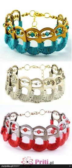 bracelets made from soda can tops