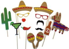 Image result for mexican photo booth props free